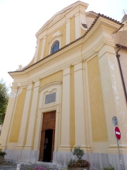 Eglise - Français:   La Turbie (Alpes-Maritimes, France), église St Michel-Archange, extérieur.