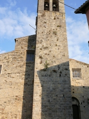 Eglise Saint-Veran - Français:   Utelle - Église Saint-Véran - La façade ouest et le clocher