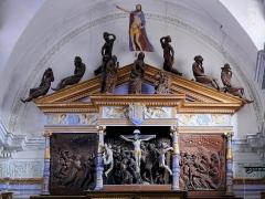 Eglise Saint-Veran - Français:   Utelle - Église Saint-Véran - Partie supérieure du retable de la Passion