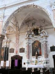 Eglise Saint-Veran - Français:   Utelle - Église Saint-Véran - Retable de Saint-Antoine-de-Padoue (collatéral nord).