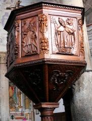 Eglise Saint-Veran - Français:   Utelle - Église Saint-Véran - Chaire du XVIIe siècle