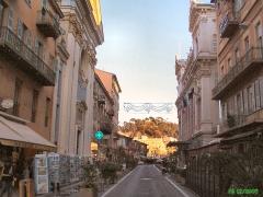 Opéra -  Nice-rue de la Prefecture. L'eglise Sainte Rita et la loge municipale