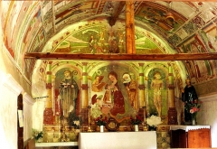 Chapelle Saint-Maur - Français:   Saint-Étienne-de-Tinée - Chapelle Saint-Maur - Peintures murales avec des scènes de la vie de saint Sébastien et de saint Maur