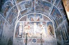 Chapelle Saint-Sébastien, dite Sainte-Claire -  Chapelle Saint-Sébastien de Venanson, Fresken der Apsiswand