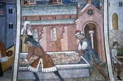 Chapelle Saint-Sébastien, dite Sainte-Claire -  Chapelle Saint-Sébastien de Venanson, Martyrium des Heiligen Sebastian