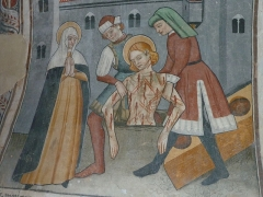 Chapelle Saint-Sébastien, dite Sainte-Claire - Sainte Lucine faisant retirer le corps de Saint Sébastien de la fosse