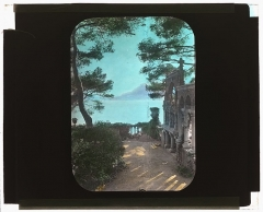 Propriété dite Villa Torre-Clementina - English: Johnston, Frances Benjamin, 1864-1952,, photographer.  [ Villa Torre Clementina, Louis Antoine Stern house, Avenue Impératrice Eugénie, Roquebrune-Cap-Martin, Alpes Maritimes, France. View to ruins]  [1925 summer]  1 photograph: glass lantern slide, hand-colored; 3.25 x 4 in.  Notes:   Site History. House architecture: Lucien Hesse, commissioned 1904. Landscape: Rafaele Mainella. Associated Name: Ernesta (Mrs. Louis) Stern. Today: Private house and garden, restored, a French historic monument.  Title, date, and subject information provided by Sam Watters, 2011.  Forms part of: Garden and historic house lecture series in the Frances Benjamin Johnston Collection (Library of Congress).  Published in Gardens for a Beautiful America / Sam Watters. New York: Acanthus Press, 2012. Plate 206.  Rights Info:  No known restrictions on publication.  Repository:  Library of Congress, Prints and Photographs Division, Washington, D.C. 20540 USA, http://hdl.loc.gov/loc.pnp/pp.print  Higher resolution image is available (Persistent URL):  http://hdl.loc.gov/loc.pnp/ppmsca.16172   Call Number:  LC-J717-X99- 14
