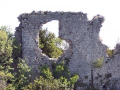 Castellaras de Thorenc - Français:   Pan de muraille restante de l\'ancien château médiéval