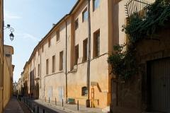 Ancien archevêché, puis Musée des tapisseries et théâtre - Deutsch: Erzbischöfliches Palais in Aix-en-Provence, Rückfassade
