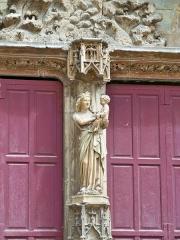 Cathédrale Saint-Sauveur - détail du portail de la Cathédrale Saint Sauveur (Aix en Provence)