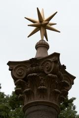 Fontaine des Augustins - Français:   Sommet de la fontaine des Augustins, Aix-en-Provence (France).