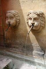 Fontaine des Bagniers - Français:   Fontaine des bagniers (1687), rue des Chapeliers, Aix-en-Provence, département des Bouches-du-Rhône (France)