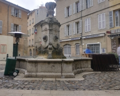 Fontaine des Tanneurs - English:  Fountain located Rue de la Couronne in Aix-en-Provence in France.