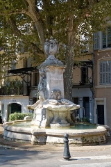 Fontaine - Deutsch: Fontaine Pascal am Cours Sextius in Aix-en-Provence