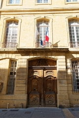 Hôtel Boyer de Fonscolombe dit aussi de Saporta ou de Vitrolles - Deutsch: Portal des Hôtel Boyer de Fonscolombe in Aix-en-Provence