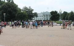 Maison -  In front of the White House at 1600 Pennsylvania Avenue, NW, Washington DC on Saturday afternoon, 11 August 2018 by Elvert Barnes Photography  Trip to Washington DC for Day Before Unite The Right 2 Rally / March