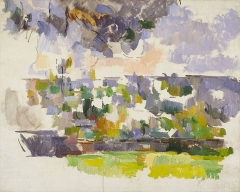 Pavillon de Cézanne - English: The Garden at Les Lauves by Paul Cezanne (1906)