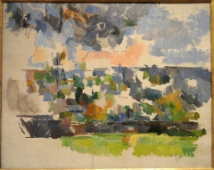 Pavillon de Cézanne - English: The Garden at Les Lauves, Paul Cézanne, c. 1906 - Phillips Collection, Washington, DC. This artwork is in the public domain because the artist died more than 70 years ago. Photography was permitted in the museum without restriction.