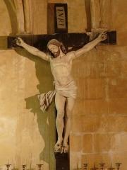 Eglise de la Major - Arles (Bouches-du-Rhône, France), intérieur de l'église Notre-Dame-la-Major, chapelle du Purgatoire, grand crucifix.