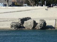 Pont romain immergé dans le Rhône -  Stones of Acient Rome Bridge in Arles