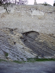 Remparts - English: Sedimentary Rock near Arles, France