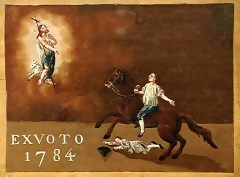 Chapelle Saint-Jean de Garguier - Ex-voto accident de cheval 1784 à Saint-Jean-de-Garguier