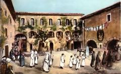 Chapelle Saint-Jean de Garguier - Ex-voto montrant l'enclos en 1921