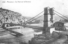 Ancien pont suspendu de Mirabeau (également sur commune de Mirabeau (Vaucluse) ) -  Les deux anciens ponts de Mirabeau (Vaucluse)