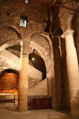 Abbaye Saint-Victor -  Atrium des cryptes de l'abbaye Saint-Victor à Marseille.