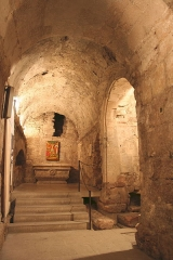 Abbaye Saint-Victor -  Chapelle Saint André dans les cryptes de l'abbaye de Saint Victor à Marseille.