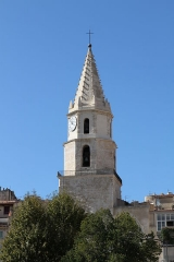 Clocher des Accoules au vieux port - English: Bell tower of the old church of Notre-Dame-des-Accoules, Marseille (Bouches-du-Rhône, France)