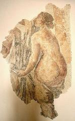 Vestiges des docks romains -  Mosaïque polychrome du IIIe siècle après J.C. découverte rue des Fabre à Marseille.