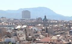 Hôtel de la Préfecture - English: Mediterranée Tower and roofs in Marseille