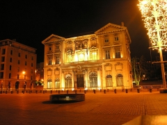 Hôtel de ville - English: Marseille city hall (old-port side) by night.