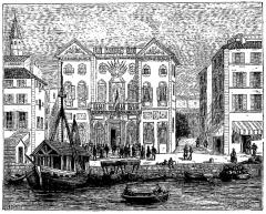 Hôtel de ville -  extrait de La France illustrée, géographie, histoire, administration, statistique, etc., tome I, par V.-A. Malte-Brun.