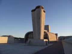 Unité d'habitation Le Corbusier dite Cité Radieuse -  Sainte-Anne | Boulevard Michelet Cité Radieuse - Unité d'habitation à Marseille Arch. Le Corbusier 1947-52 Roof-terrace at the 9th floor. To see full set on Cité Radieuse: <a href=