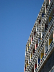 Unité d'habitation Le Corbusier dite Cité Radieuse - Español: Unidad habitacional de Marsella