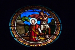 Eglise paroissiale Saint-Baudile - Deutsch:   Bleiglasfenster in der Kirche Saint-Baudile in Noves, Darstellung: hl. Baudilius