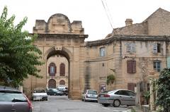 Château - English:   The caste of King René (René of Anjou), now the town hall of Peyrolles-en-Provence, Bouches-du-Rhône (France).