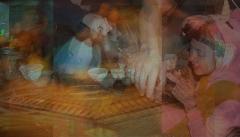 Grand mas - English: tea ceremony serenity gathering cult psychedelic joshua tree
