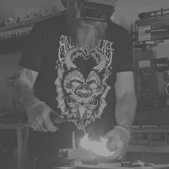 Grand mas - English: fire krampus brazing tattoo machine electrictomb dave richardson krissy muscarello lewduhkrissy animal cult screenprint art prints art shirt tattoo flash