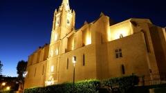 Eglise Saint-Laurent - English: Saint Laurent Church by Night