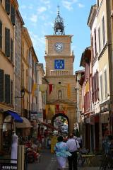Tour de l'Horloge - Deutsch:   Der Uhrturm von Salon-de-Provence, Ansicht von der Altstadt aus