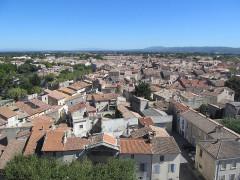 Abbaye Saint-Honorat (vestiges de l'ancienne) - English:   Tarascon from the Castle