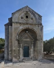 Chapelle et Tour Saint-Gabriel - English:   The facade of the Chapelle Saint-Gabriel de Tarascon chapel in France.