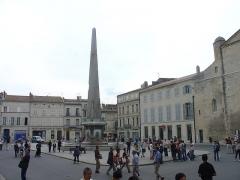 Cirque romain de la presqu'île -  The Obélisque d'Arles in Arles, France.