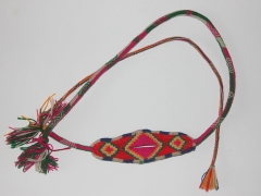 Eglise Saint-François-de-Sales et abords - English: A colored sling made from alpaca wool from Peru