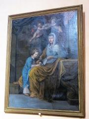 Chapelle Saint-François-de-Paule - English: Painting of the chapel Saint-François-de-Paule in Bormes-les-Mimosas (Var, France): Virgin Mary and Her mother Sainte-Anne.