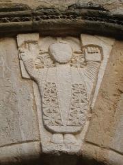 Chapelle Notre-Dame - English: Brue-Auriac - Var - France - Chapelle Notre-Dame (entrance detail)