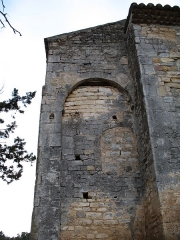 Chapelle Notre-Dame - English: Brue-Auriac - Var - France - Chapelle Notre-Dame (chevet side on the cimetery side)